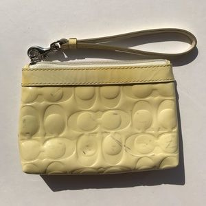 Coach Bags - Coach Yellow and Blue Patent Leather Wristlet